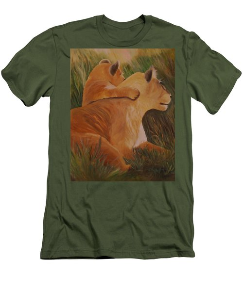 Cat Family Men's T-Shirt (Slim Fit) by Christy Saunders Church