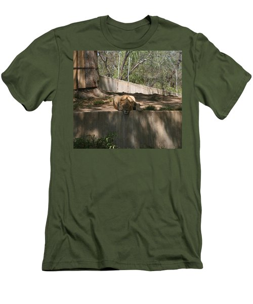 Men's T-Shirt (Slim Fit) featuring the photograph Cat Nap by Stacy C Bottoms