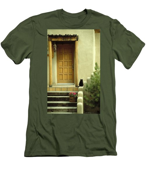 Men's T-Shirt (Slim Fit) featuring the photograph Cat Post by Brent L Ander