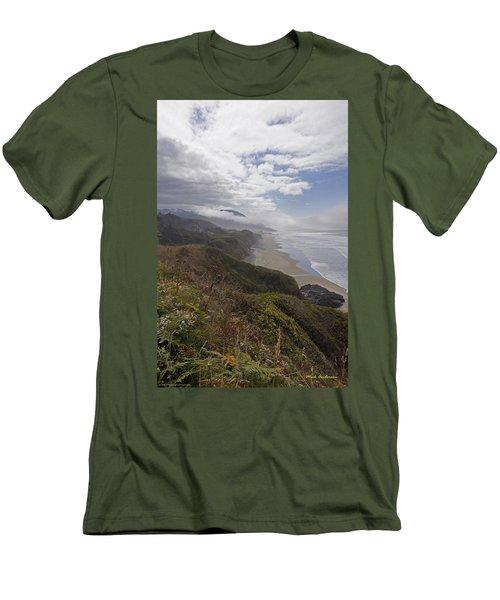 Central Oregon Coast Vista Men's T-Shirt (Slim Fit) by Mick Anderson