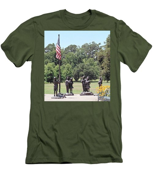 Children Raise The Flag Men's T-Shirt (Athletic Fit)