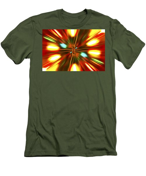 Men's T-Shirt (Slim Fit) featuring the photograph Christmas Light Abstract by Steve Purnell