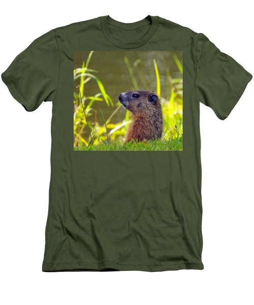 Chucky Woodchuck Men's T-Shirt (Athletic Fit)