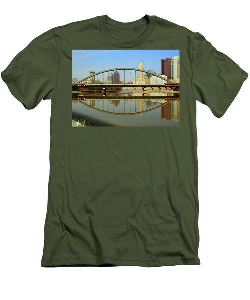 City Reflections Through A Bridge Men's T-Shirt (Athletic Fit)