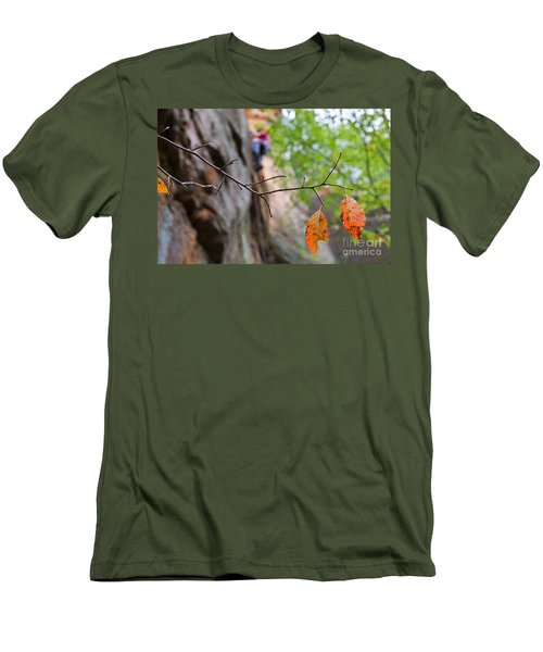 Climber In Fall Men's T-Shirt (Athletic Fit)