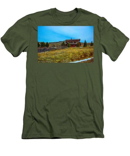 Men's T-Shirt (Slim Fit) featuring the photograph Co. Farm by Shannon Harrington