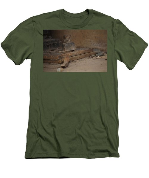 Men's T-Shirt (Slim Fit) featuring the photograph Color Of Steel 1 by Fran Riley