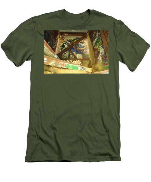 Men's T-Shirt (Slim Fit) featuring the photograph Color Of Steel 8 by Fran Riley