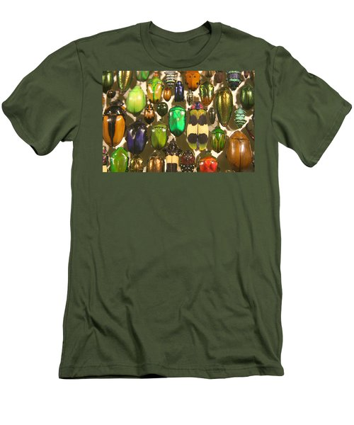 Colorful Insects Men's T-Shirt (Slim Fit) by Brooke T Ryan