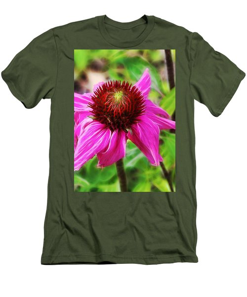 Coneflower Men's T-Shirt (Slim Fit) by Judi Bagwell