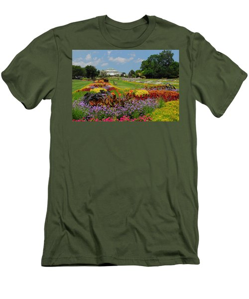 Conservatory Gardens Men's T-Shirt (Slim Fit) by Lynn Bauer