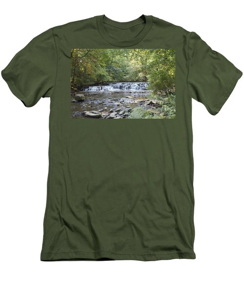 Men's T-Shirt (Slim Fit) featuring the photograph Corbetts Glen Waterfall by William Norton