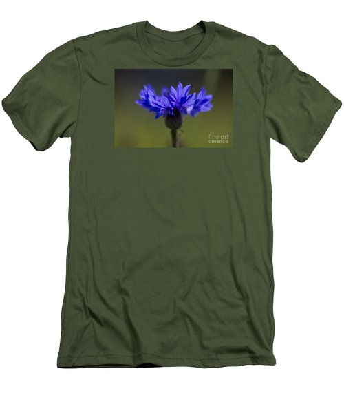 Men's T-Shirt (Slim Fit) featuring the photograph Cornflower Blue by Clare Bambers