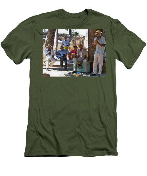 Men's T-Shirt (Slim Fit) featuring the photograph Cuban Band by Lynn Bolt