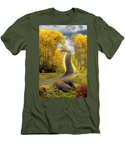 Cutting Through The Aspens Men's T-Shirt (Athletic Fit)
