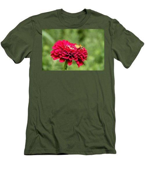 Men's T-Shirt (Slim Fit) featuring the photograph Dahlia's Moth by Elizabeth Winter