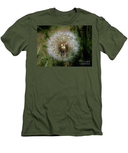 Men's T-Shirt (Slim Fit) featuring the photograph Dandelion Going To Seed by Sherman Perry
