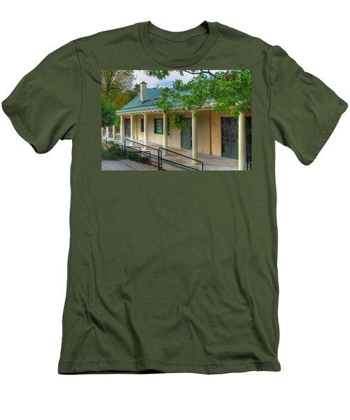 Men's T-Shirt (Slim Fit) featuring the photograph Delaware Park Casino by Michael Frank Jr