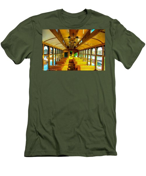 Men's T-Shirt (Slim Fit) featuring the photograph Dining Car by Shannon Harrington