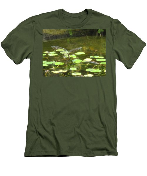 Men's T-Shirt (Slim Fit) featuring the photograph Dragonfly by Laurianna Taylor