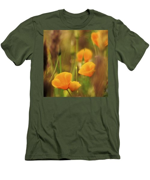 Dream Poppies Men's T-Shirt (Slim Fit) by Ralph Vazquez