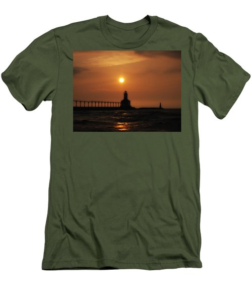 Dreamy Sunset At The Lighthouse Men's T-Shirt (Athletic Fit)