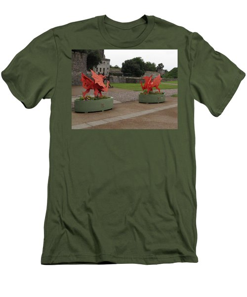 Dueling Dragons Men's T-Shirt (Athletic Fit)