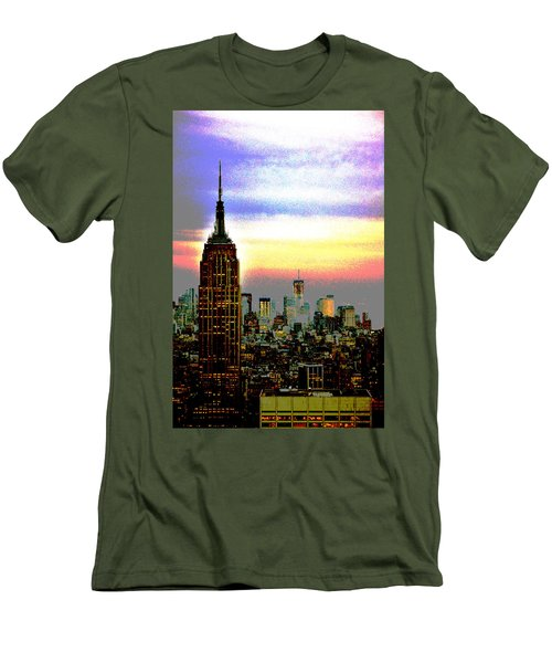 Empire State Building4 Men's T-Shirt (Athletic Fit)