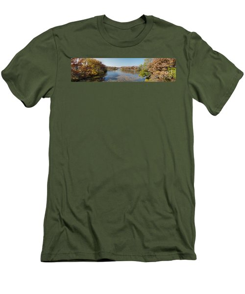 Men's T-Shirt (Slim Fit) featuring the photograph Erie Canal Panorama by William Norton
