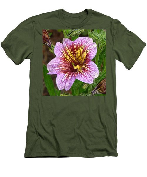 Men's T-Shirt (Slim Fit) featuring the photograph Exploding Beauty by Wendy McKennon