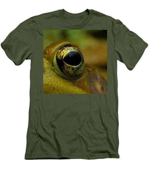 Eye Of Frog Men's T-Shirt (Slim Fit) by Paul Ward