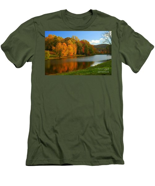 Fall In New York State Men's T-Shirt (Athletic Fit)
