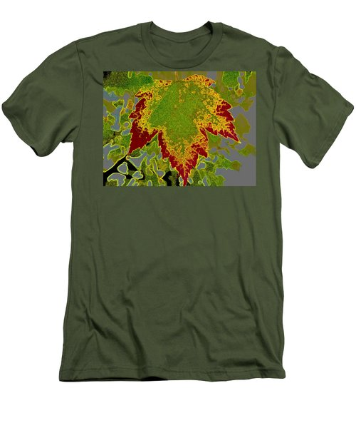 Men's T-Shirt (Slim Fit) featuring the photograph Falling by Kathy Bassett