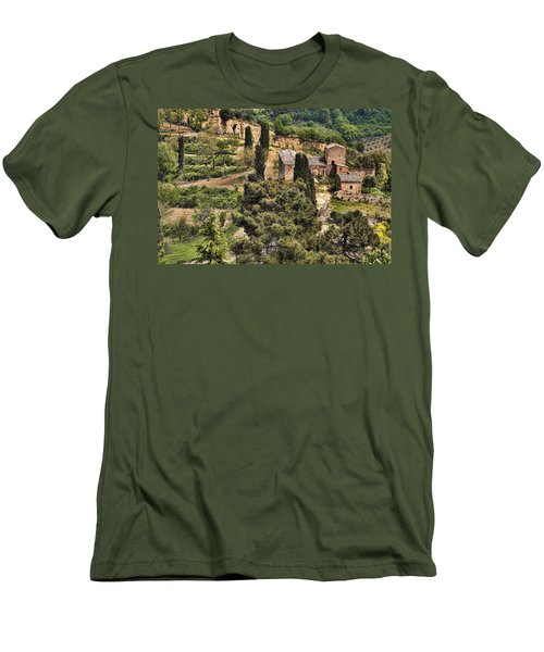 Farm Orvieto Italy Men's T-Shirt (Slim Fit) by Hugh Smith