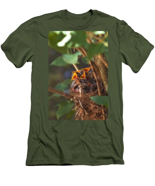 Feeding Time Men's T-Shirt (Slim Fit) by Joann Vitali