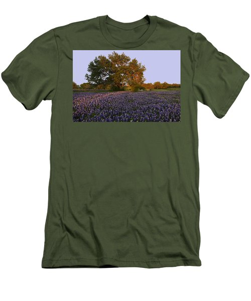 Field Of Blue Men's T-Shirt (Athletic Fit)