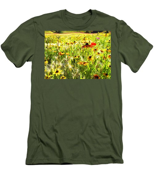 Field Of Bright Colorful Wildflowers Men's T-Shirt (Athletic Fit)