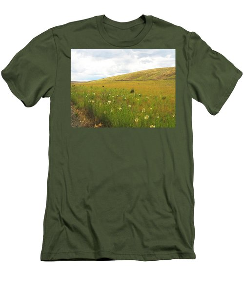 Field Of Dandelions Men's T-Shirt (Slim Fit) by Anne Mott