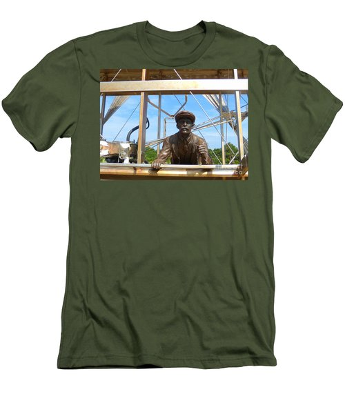 Men's T-Shirt (Slim Fit) featuring the sculpture First In Flight  by Lydia Holly