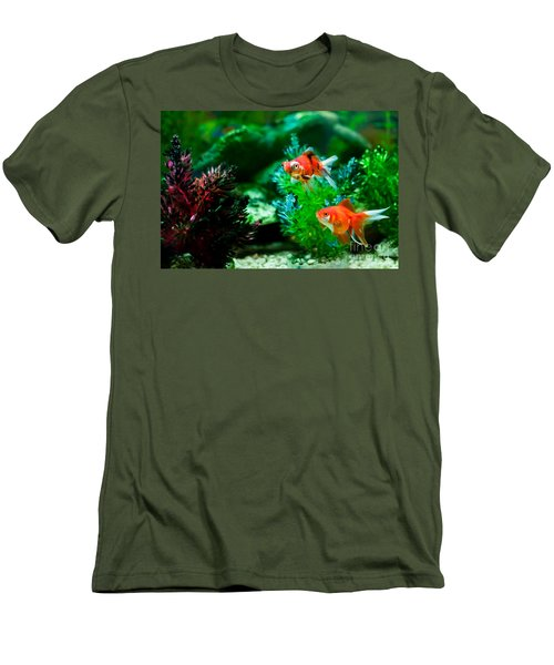 Men's T-Shirt (Slim Fit) featuring the photograph Fish Tank by Matt Malloy