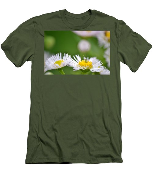 Men's T-Shirt (Slim Fit) featuring the photograph Floral Launch-pad by JD Grimes
