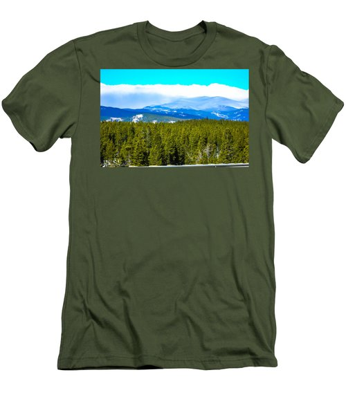 Men's T-Shirt (Slim Fit) featuring the photograph Fog In The Rockies by Shannon Harrington