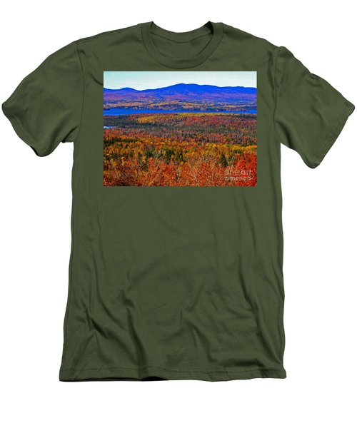 Foliage From Height Of Land Men's T-Shirt (Athletic Fit)