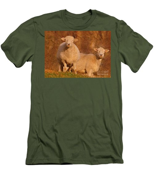 Men's T-Shirt (Slim Fit) featuring the mixed media Follow by Lydia Holly