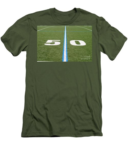 Football Field Fifty Men's T-Shirt (Athletic Fit)