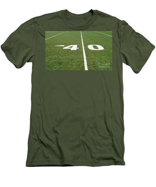Men's T-Shirt (Slim Fit) featuring the photograph Football Field Forty by Henrik Lehnerer