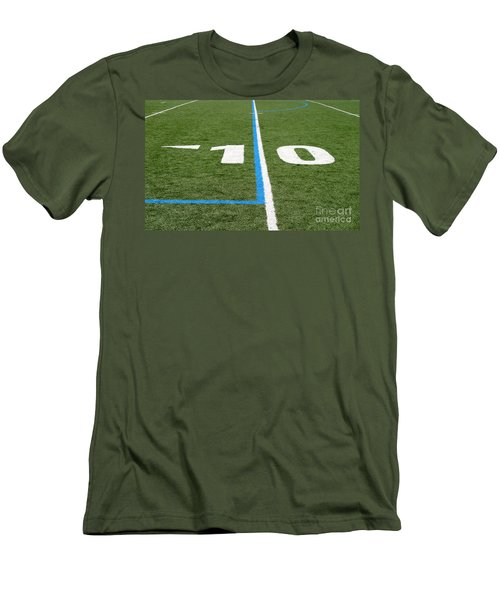 Men's T-Shirt (Slim Fit) featuring the photograph Football Field Ten by Henrik Lehnerer