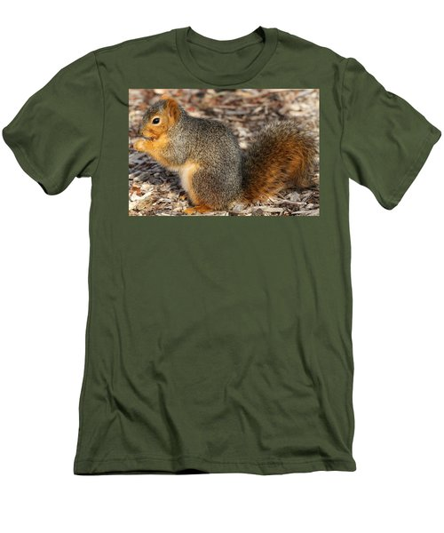 Men's T-Shirt (Slim Fit) featuring the photograph Fruity Squirel by Elizabeth Winter