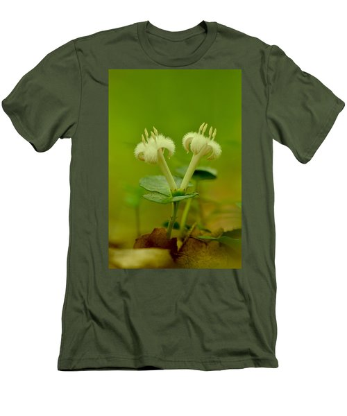 Men's T-Shirt (Slim Fit) featuring the photograph Fuzzy Blooms by JD Grimes
