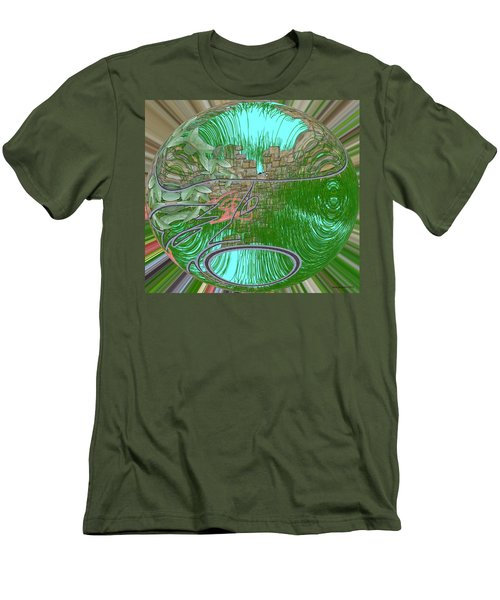 Men's T-Shirt (Slim Fit) featuring the digital art Garden Wall by George Pedro